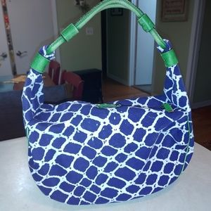 Navy, Green, and White Kate Spade Purse